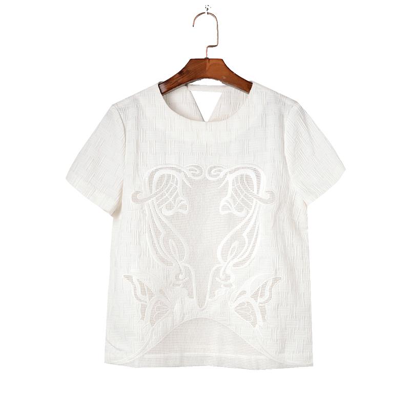 女款短袖衬衫 【清仓价】高端女装TN0401宽松短袖衬衫5.16夏_推荐淘宝好看的女短袖衬衫