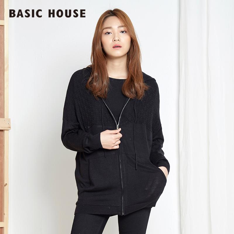 百家好女装 Basic House百家好韩版休闲舒适新款女针织衫HOKT525D_推荐淘宝好看的百家好女