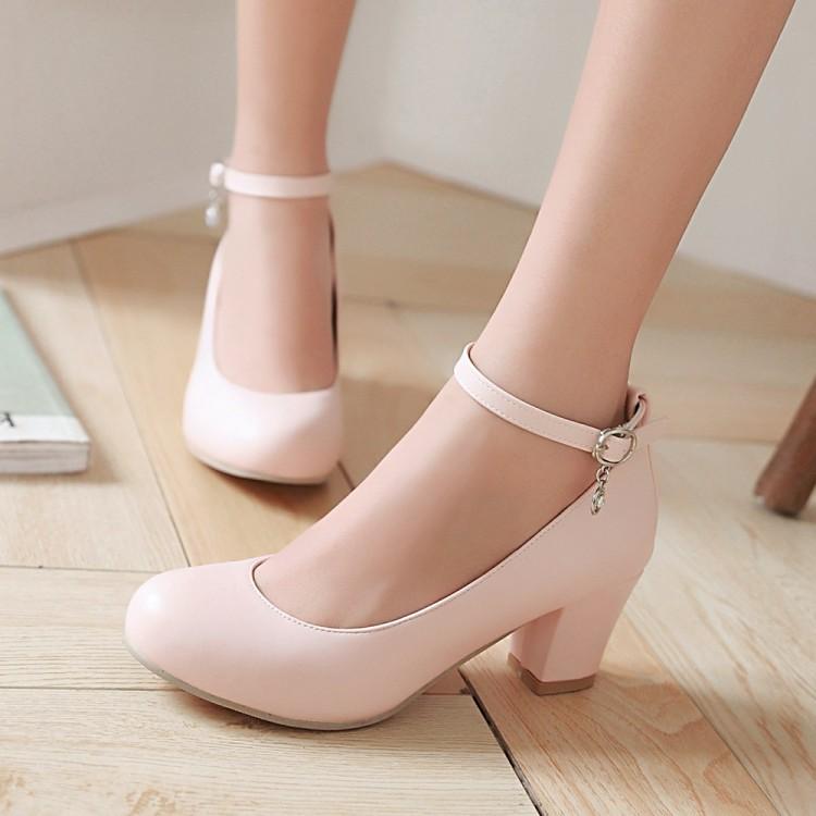 粉红色厚底鞋 大码中跟伴娘白色红色工作鞋子厚底纯色学生粉红色胶粘鞋低帮鞋_推荐淘宝好看的粉红色厚底鞋