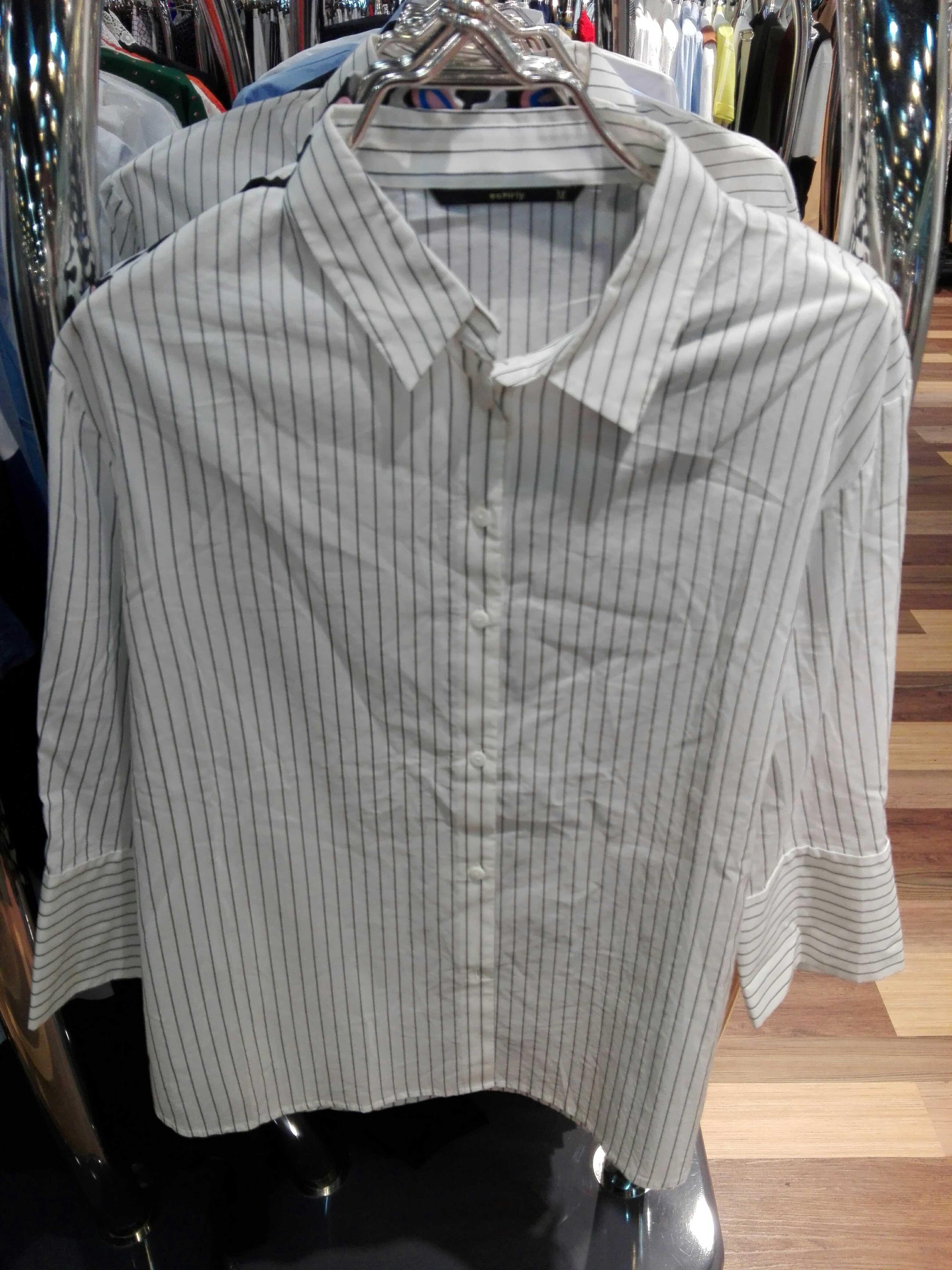 欧时力代购 欧时力正品代购条纹衬衫中袖翻领衬衣1HH2015350_推荐淘宝好看的欧时力代购