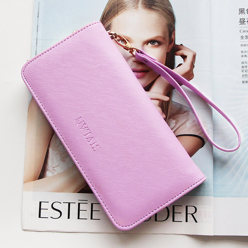 紫色钱包 小清新2017春女士钱包女式长款日韩版拉链手拿包学生手机卡包皮夹_推荐淘宝好看的紫色钱包