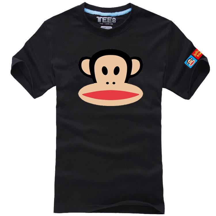纯棉大嘴猴t恤 夏款猴t恤男女宽松休闲纯棉短袖衫大嘴可爱猴情侣衫半袖_推荐淘宝好看的女纯棉大嘴猴t恤