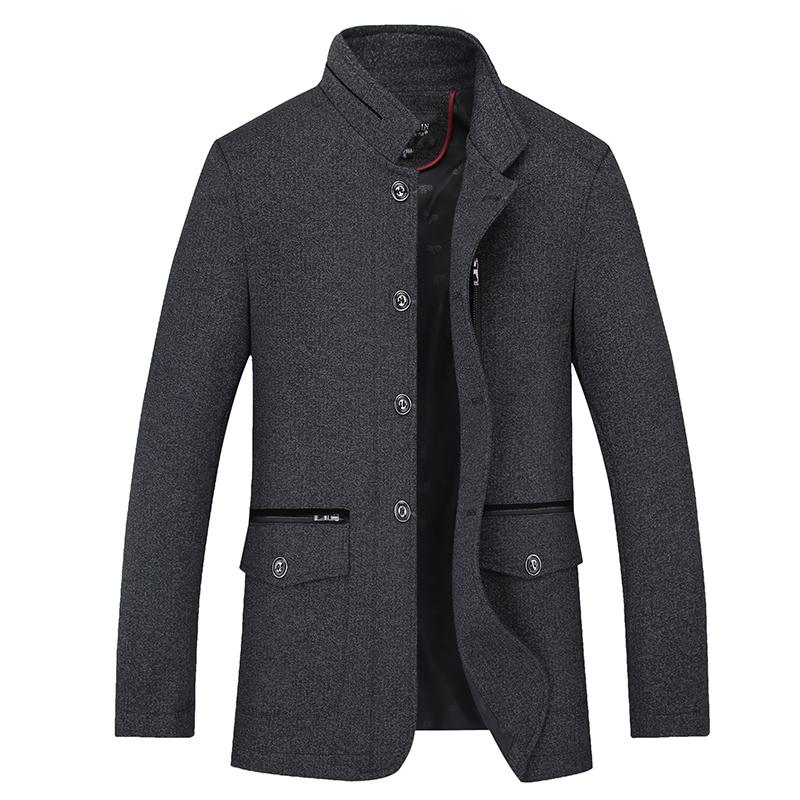 针织夹克 2017秋冬季中年男士针织毛呢棉夹克大码男爸爸棉衣外套中老年棉袄_推荐淘宝好看的男针织夹克
