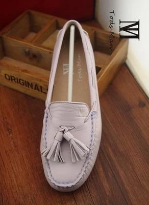 紫色豆豆鞋 新款手工豆豆鞋女鞋单鞋真皮绵羊皮甜美浅紫色流苏款平底圆头鞋_推荐淘宝好看的紫色豆豆鞋