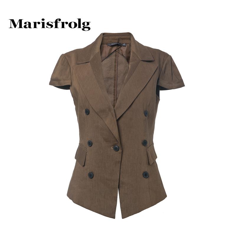 玛丝菲尔正品代购 Marisfrolg玛丝菲尔初秋女装优雅时尚短袖休闲西装外套专柜正品_推荐淘宝好看的玛丝菲尔