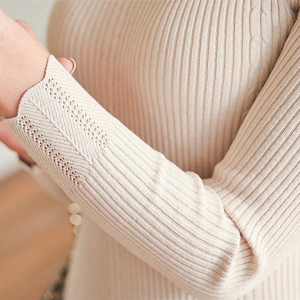 针织衫 套头毛衣女秋冬新款韩版内搭长袖针织衫短款半高领修身打底衫加厚_推荐淘宝好看的女针织衫