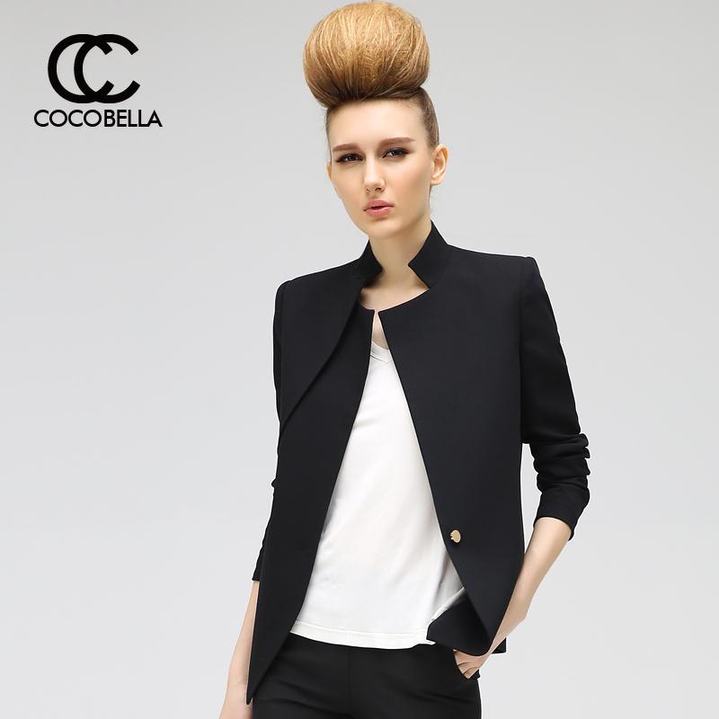 小西服外套 COCOBELLA 2016新款不对称双层领修身小西服女休闲西装外套CT208_推荐淘宝好看的女小西服外套