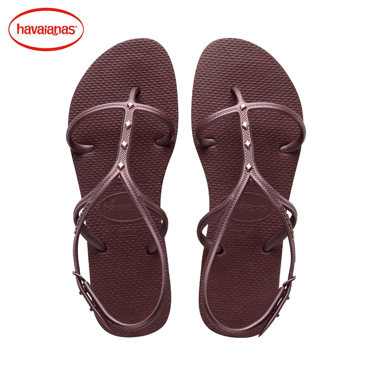 紫色凉鞋 Havaianas巴西2017新品人字拖女款ALLURE MAXI紫色凉鞋拖鞋哈瓦那_推荐淘宝好看的紫色凉鞋