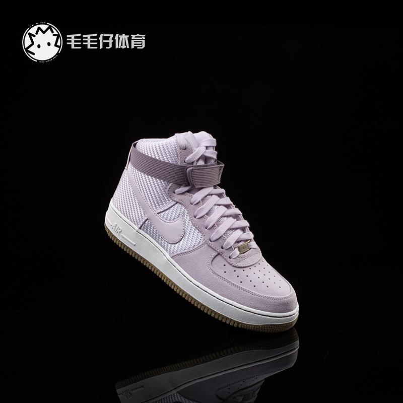 紫色高帮鞋 NIKE AIR FORCE 1 HI 空军一号 粉紫高帮限量情侣板鞋654440 500_推荐淘宝好看的紫色高帮鞋