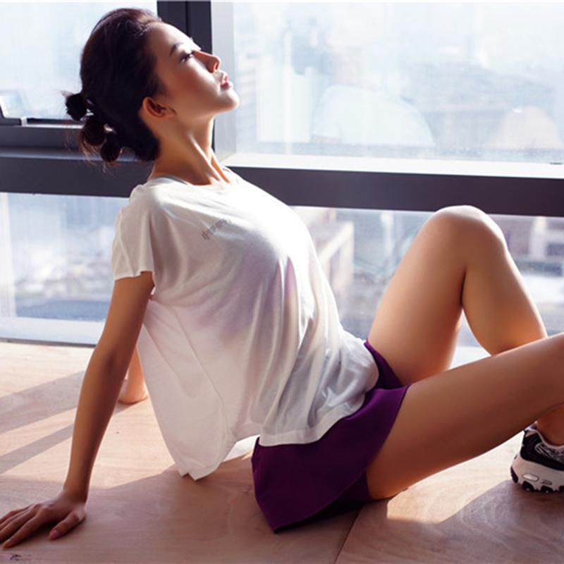 无袖运动t恤 宽松大码亲肤柔软透气速干T恤瑜伽健身衣运动服上衣休闲无袖女夏_推荐淘宝好看的女无袖运动t恤