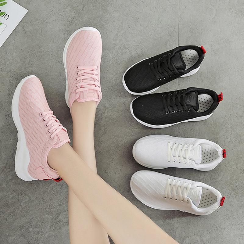 粉红色帆布鞋 秋冬运动跑步健身鞋镂空透气休闲帆布鞋 韩版原宿粉红色女学生鞋_推荐淘宝好看的粉红色帆布鞋