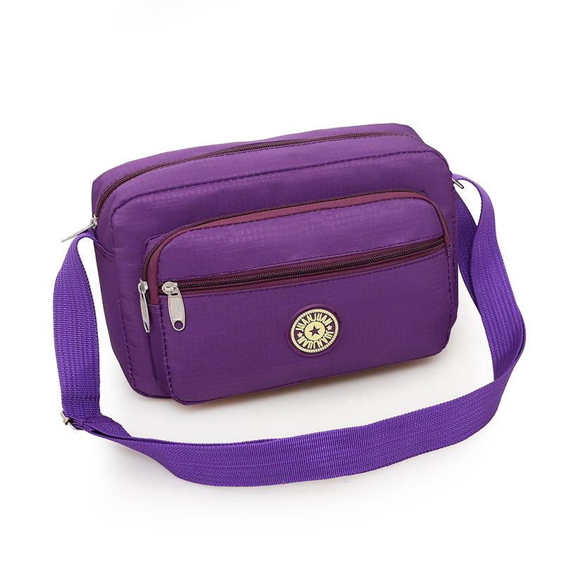 紫色单肩包 天天特价单肩斜跨女包中老年包斜挎布包中年牛津布包妈妈包女包_推荐淘宝好看的紫色单肩包