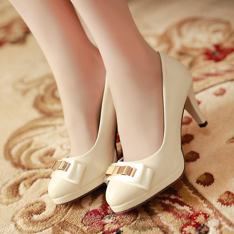 细高跟单鞋 春秋季新款高跟鞋甜美系浅口圆头细跟单鞋女鞋小码鞋30 31 32 33_推荐淘宝好看的女细高跟单鞋