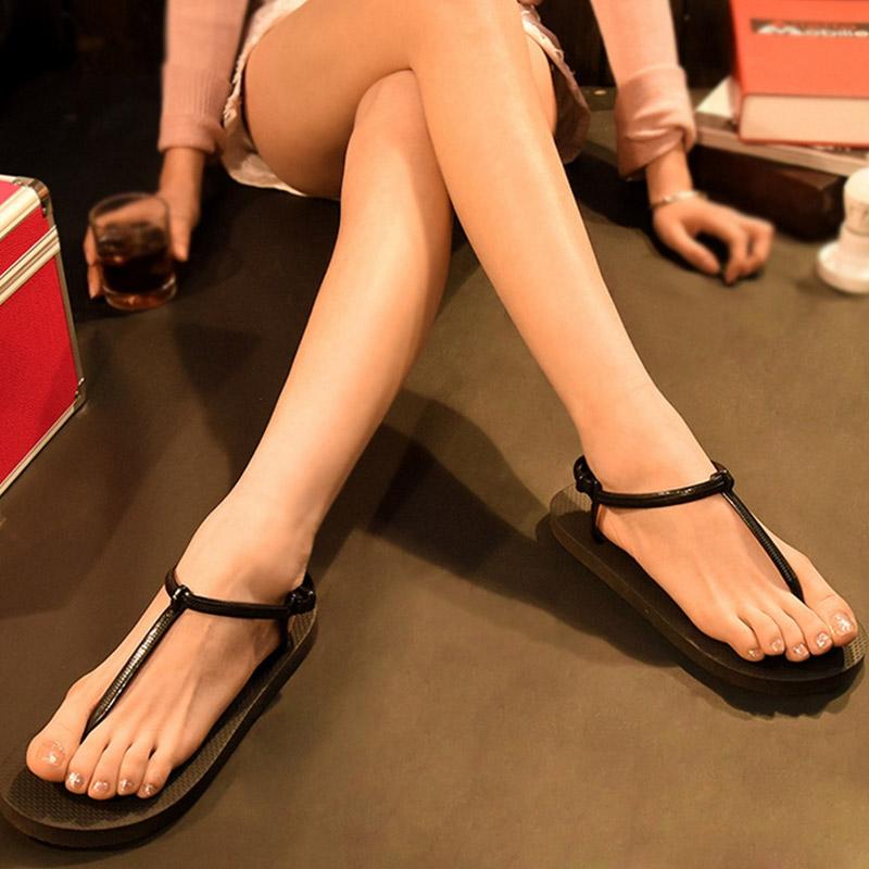 凉鞋松糕鞋 凉鞋女夏季2017新款韩版松糕女鞋百搭学生防滑平底罗马休闲鞋子女_推荐淘宝好看的女凉鞋松糕鞋