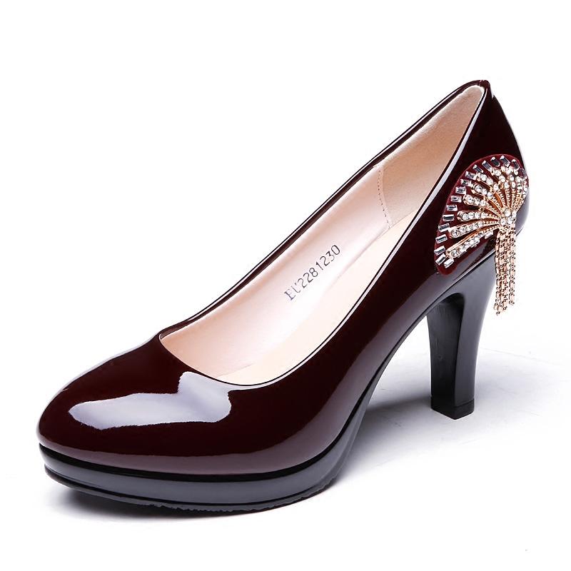 性感高跟鞋 时尚女鞋高跟鞋女士漆皮女单鞋尖头性感结婚鞋高跟工作鞋通勤女鞋_推荐淘宝好看的女性感高跟鞋