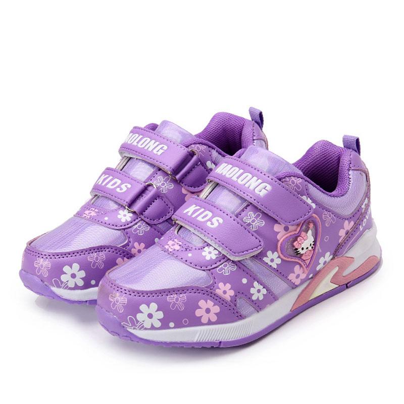 紫色运动鞋 秋冬款女童运动鞋紫色儿童鞋子3-4-5-6-7-8-9岁中小童跑步鞋单鞋_推荐淘宝好看的紫色运动鞋