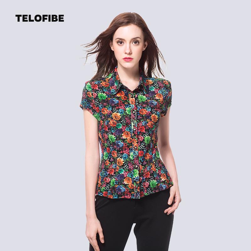 短袖衬衫 泰勒菲尔品牌中年妈妈装夏装收腰显瘦上衣时尚中老年短袖衬衫女装_推荐淘宝好看的女短袖衬衫
