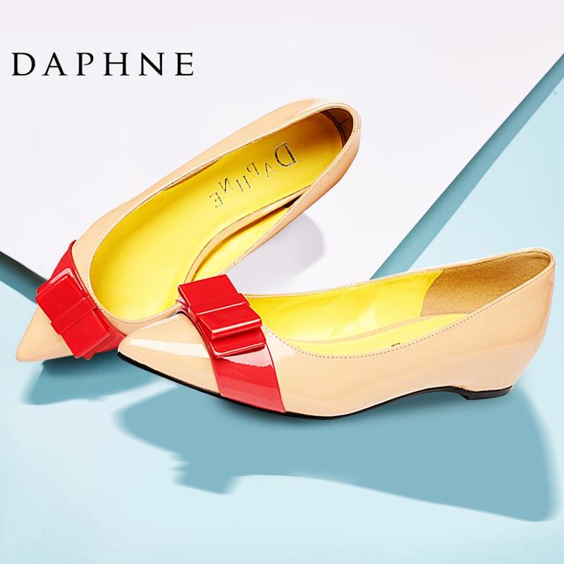 达芙妮尖头鞋 Daphne达芙妮女鞋 春季舒适低跟时尚尖头蝴蝶结浅口单鞋_推荐淘宝好看的达芙妮尖头鞋