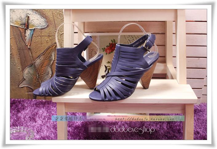 紫色罗马鞋 欧美新款时尚潮流简约女士夏罗马绑带凉鞋春季真皮高跟女鞋子紫色_推荐淘宝好看的紫色罗马鞋
