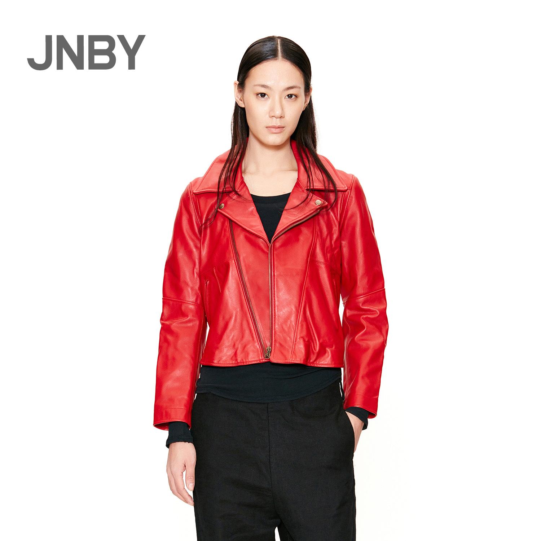 牛皮皮衣 JNBY江南布衣时尚机车女士牛皮皮衣5F128113_推荐淘宝好看的牛皮皮衣女