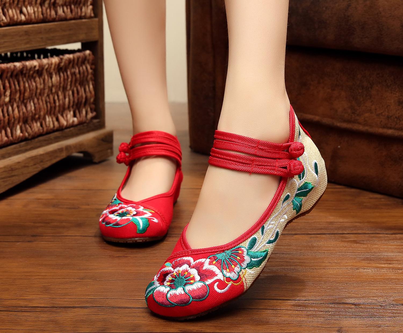 帆布鞋 女鞋多色帆布鞋女低跟休闲鞋绣花鞋子民族风低帮软底学生布鞋多款_推荐淘宝好看的女帆布鞋