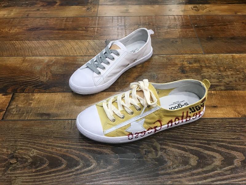 黄色平底鞋 真皮休闲平底系带黄色小白鞋2017新款圆头牛皮软皮女鞋个性透气款_推荐淘宝好看的黄色平底鞋