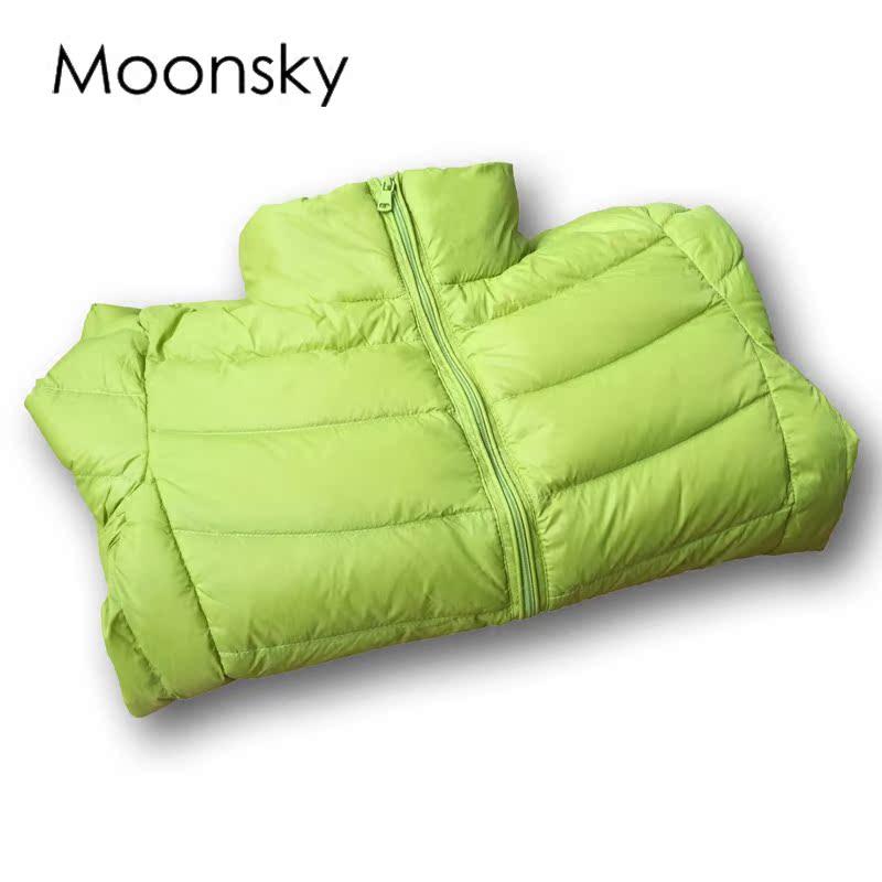 白色羽绒服 moonsky2016yrf轻薄羽绒服女短款韩版修身显瘦反季清仓特价潮_推荐淘宝好看的白色羽绒服