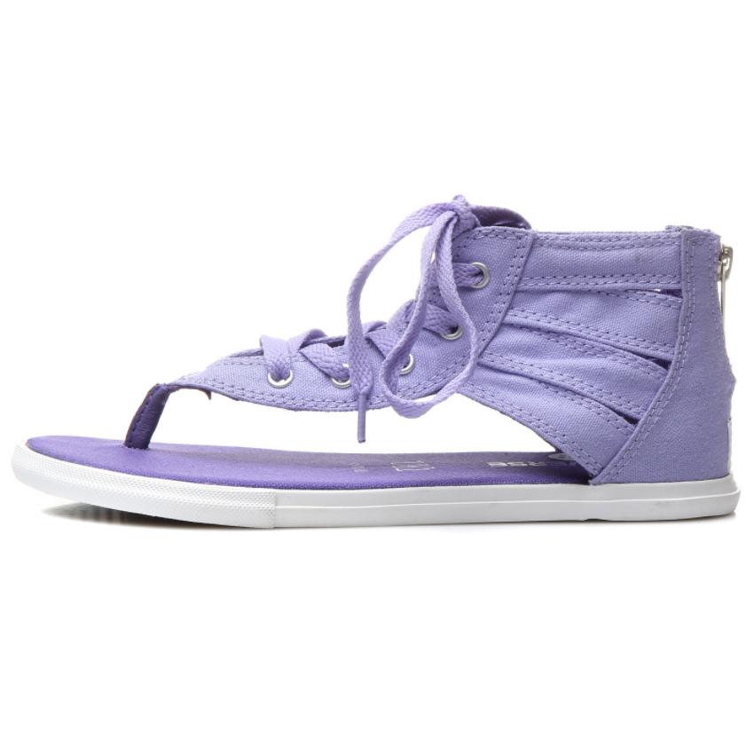 匡威罗马鞋 Converse匡威 女鞋子硫化帆布鞋子夹脚罗马凉鞋 542606C_推荐淘宝好看的匡威罗马鞋