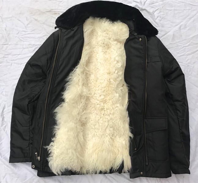 男士皮衣 中老年羊皮袄皮毛一体羊毛大衣皮草外套男保暖加厚棉袄真皮皮衣_推荐淘宝好看的男皮衣