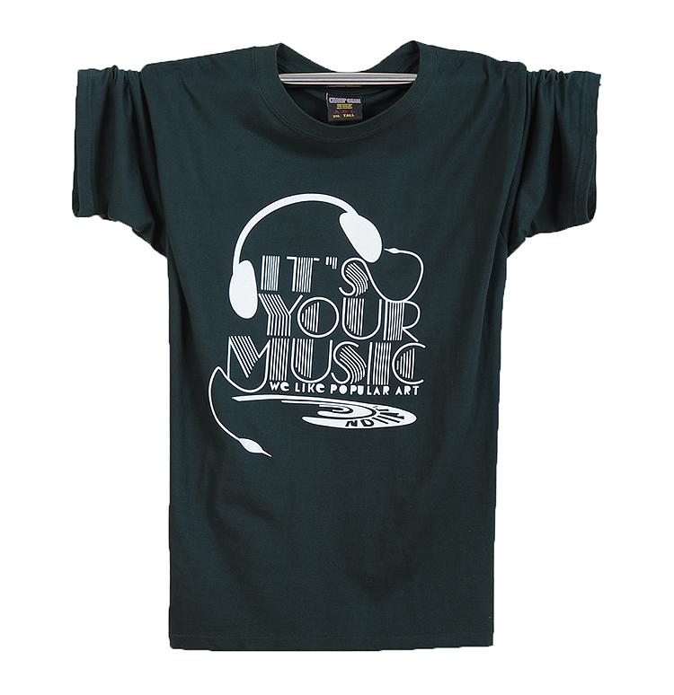绿色T恤 肥仔男短袖T恤加肥加大码 纯棉特体宽松圆领夏季热卖_推荐淘宝好看的绿色T恤