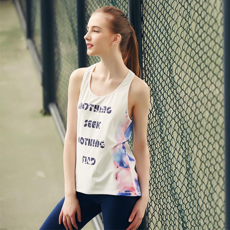 无袖运动t恤 运动健身背心无袖T恤上衣女迷彩大码速干吸汗透气宽松背心_推荐淘宝好看的女无袖运动t恤