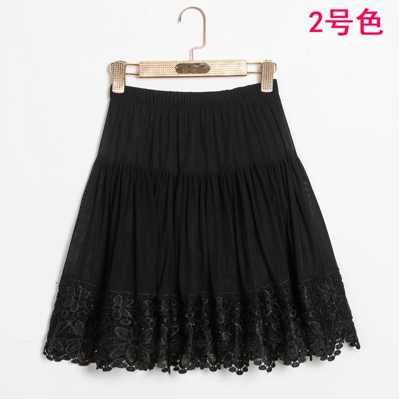 女半身裙 夏季中老年女装半身裙广场舞裙子 中年妈妈装松紧腰黑色舞蹈短裙_推荐淘宝好看的半身裙