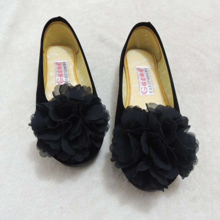 黑色平底鞋 花朵新款 老北京布鞋女鞋夏季黑色平底工作孕妇鞋妈妈鞋防滑软底_推荐淘宝好看的黑色平底鞋