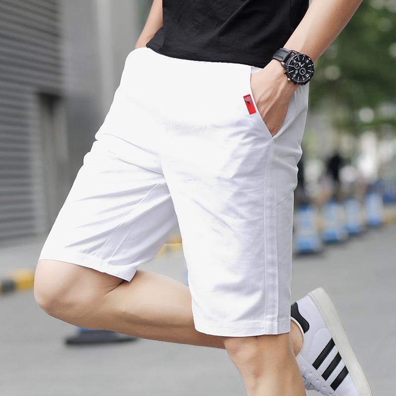 黑色休闲裤 夏季运动5五分裤男士短裤男生休闲7七分中裤夏天沙滩裤大裤衩薄潮_推荐淘宝好看的黑色休闲裤