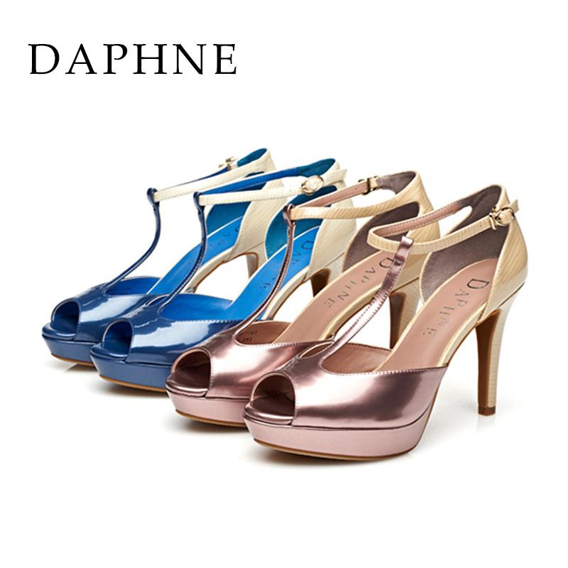 达芙妮高跟凉鞋 Daphne达芙妮 春夏款休闲鱼嘴细跟超高跟女凉鞋1015303017_推荐淘宝好看的女达芙妮高跟凉鞋