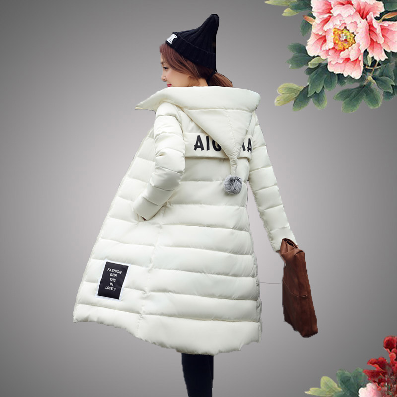 白色羽绒服 2016冬新款韩版时尚超长款过膝羽绒棉服女加厚大码棉衣潮特价清仓_推荐淘宝好看的白色羽绒服