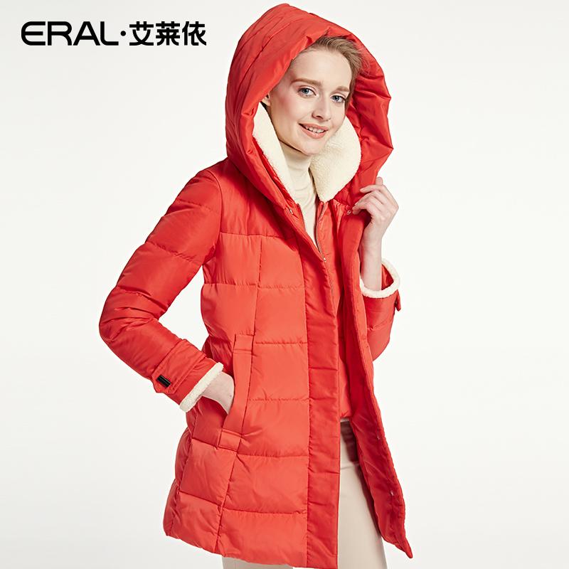 艾莱依羽绒服长款 ERAL艾莱依2016冬季韩版连帽羽绒服女中长款加厚长袖16001-EDAB_推荐淘宝好看的女艾莱依羽绒服长款