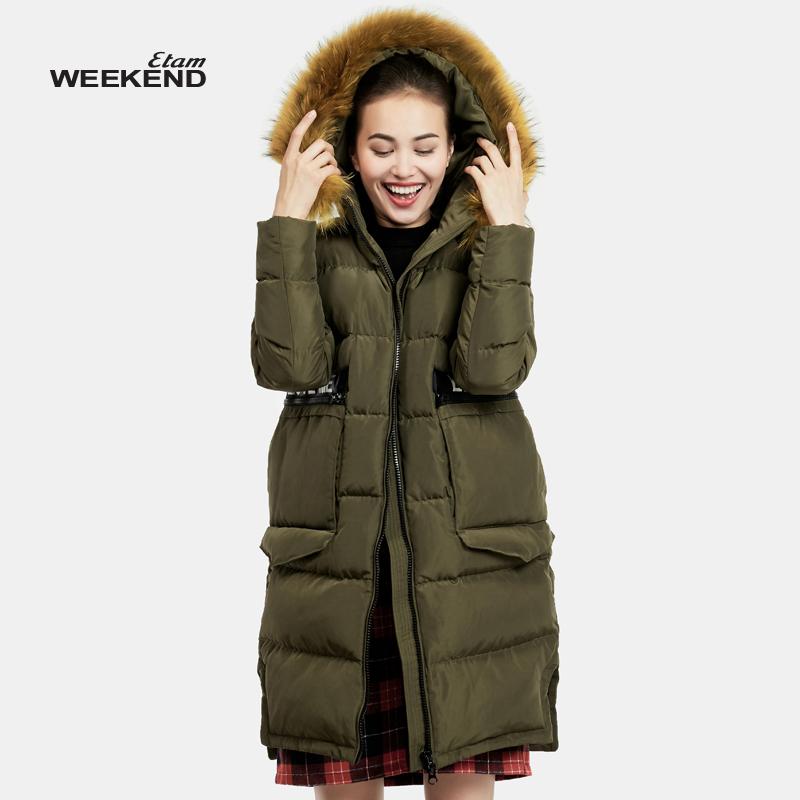 艾格羽绒服 艾格 Weekend 2016 冬新品个性时尚中长款羽绒服160235037_推荐淘宝好看的艾格羽绒服