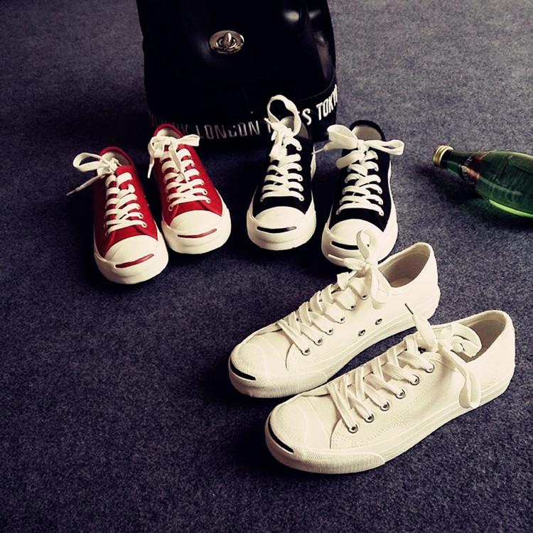 开口笑帆布鞋 夏季韩国ulzzang原宿帆布鞋开口笑帆布鞋女超炫风情侣款男PU布鞋_推荐淘宝好看的女开口笑帆布鞋