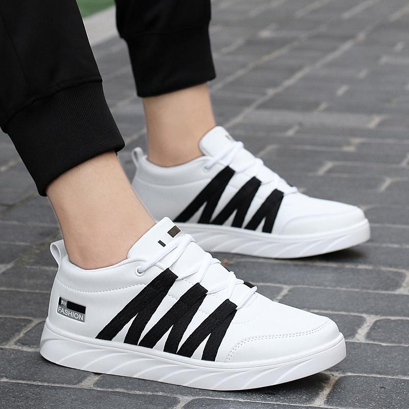 白色运动鞋 夏季38小码34男孩10板鞋13中学生男鞋子15运动休闲11白色大童12岁_推荐淘宝好看的白色运动鞋