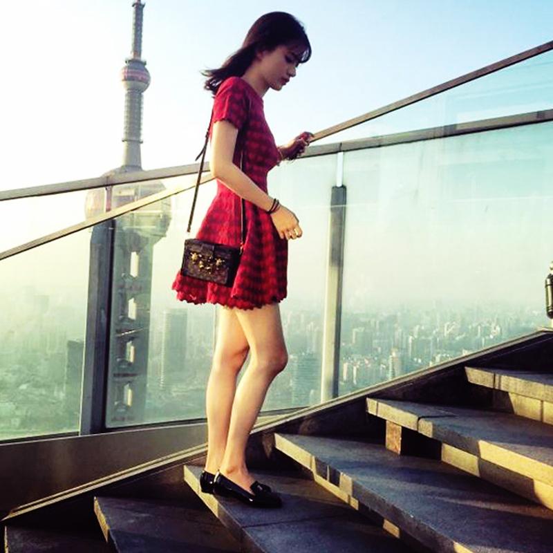 红色连衣裙 秋冬款2016新款女装小香风修身显瘦长袖针织红色连衣裙A字打底裙_推荐淘宝好看的红色连衣裙