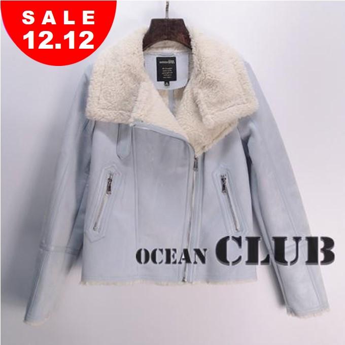 艾格周末女装 艾格周末正品代购 150221088-三色 冬装新品皮毛一体羊羔绒外套_推荐淘宝好看的艾格周末