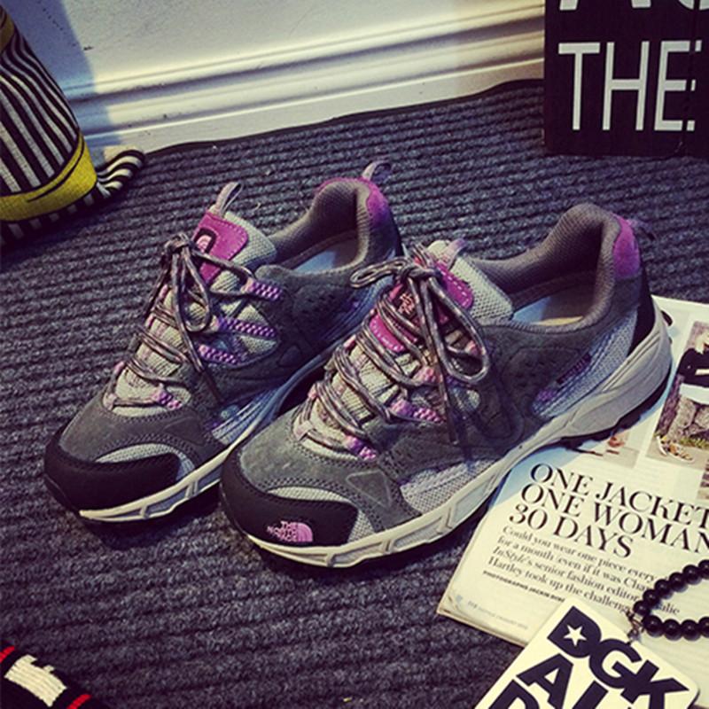 紫色运动鞋 匹诺曹新款韩国ulzzang港风灰紫原宿透气休闲增高气垫运动鞋女潮_推荐淘宝好看的紫色运动鞋