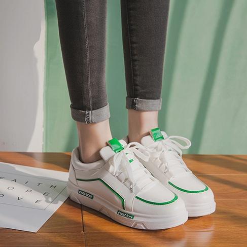 粉红色厚底鞋 BABY同款女鞋坡跟厚底白绿色休闲运动鞋学生鞋跑鞋粉红黑色PU皮鞋_推荐淘宝好看的粉红色厚底鞋