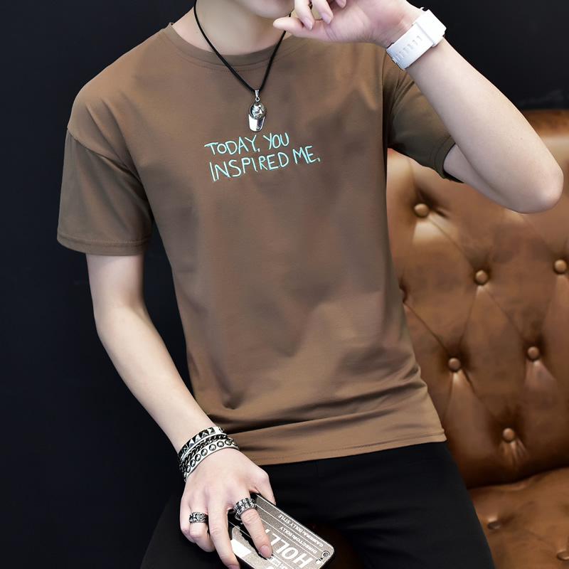 男士短袖t恤 男装短袖t恤夏天2017新款潮男青年上衣服 韩版个性短轴加大码汗衫_推荐淘宝好看的男短袖t恤