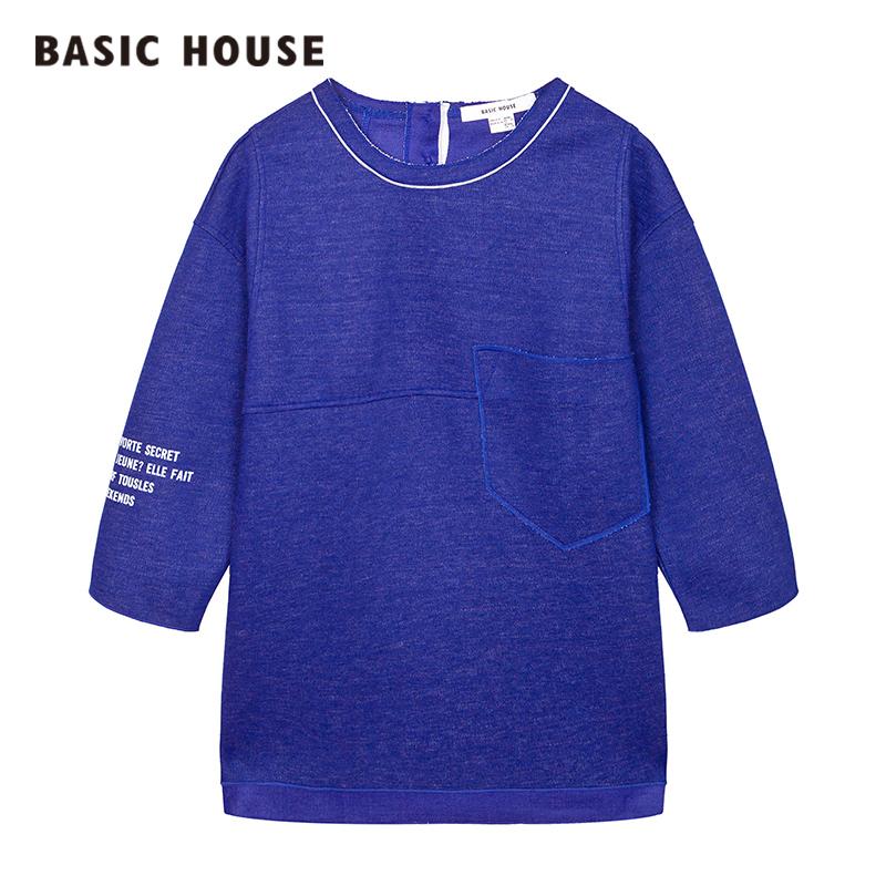 百家好T恤 Basic House百家好宽松女士T恤休闲时尚上装HPTS621A_推荐淘宝好看的百家好T恤女