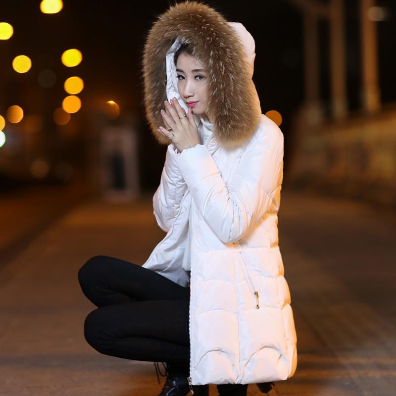 鸭鸭羽绒服 2016新款冬装羽绒服女中长款韩国加厚女款绒服显瘦女士鸭鸭羽绒衣_推荐淘宝好看的女鸭鸭羽绒服