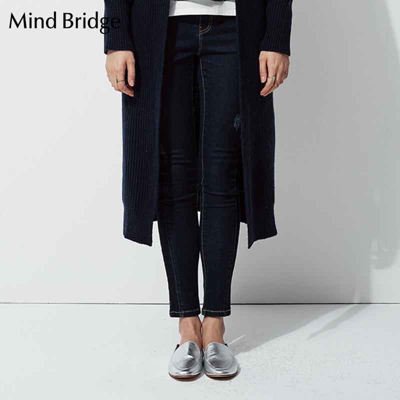 百家好牛仔裤 Mind Bridge百家好女装韩版时尚休闲女装牛仔裤 MRDP320B_推荐淘宝好看的百家好牛仔裤女