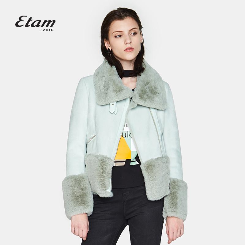 艾格服饰 艾格Etam2017冬新品时尚简约纯色外套女17012117137_推荐淘宝好看的艾格女