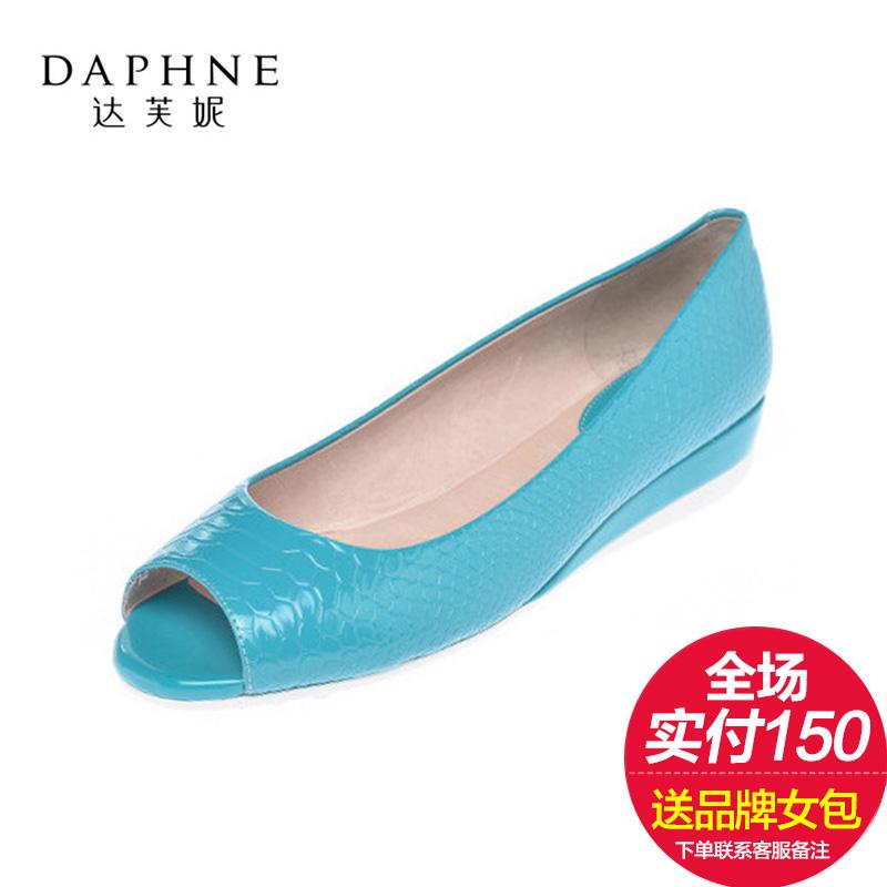 达芙妮单鞋 Daphne达芙妮女鞋春新款漆皮女士鞋浅口中坡跟时尚鱼嘴单鞋_推荐淘宝好看的女达芙妮单鞋